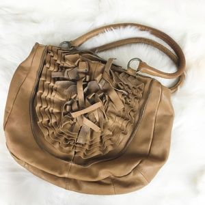 Anthropologie | Lucky Penny Fringe Leather Purse